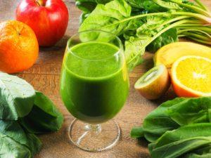 野菜と果物とスムージー